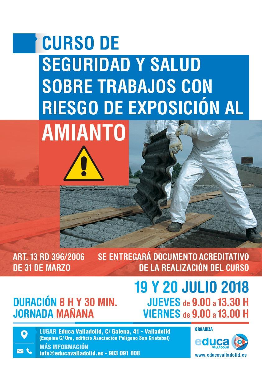 CURSO DE SEGURIDAD Y SALUD SOBRE TRABAJOS CON RIESGO DE EXPOSICIÓN AL AMIANTO