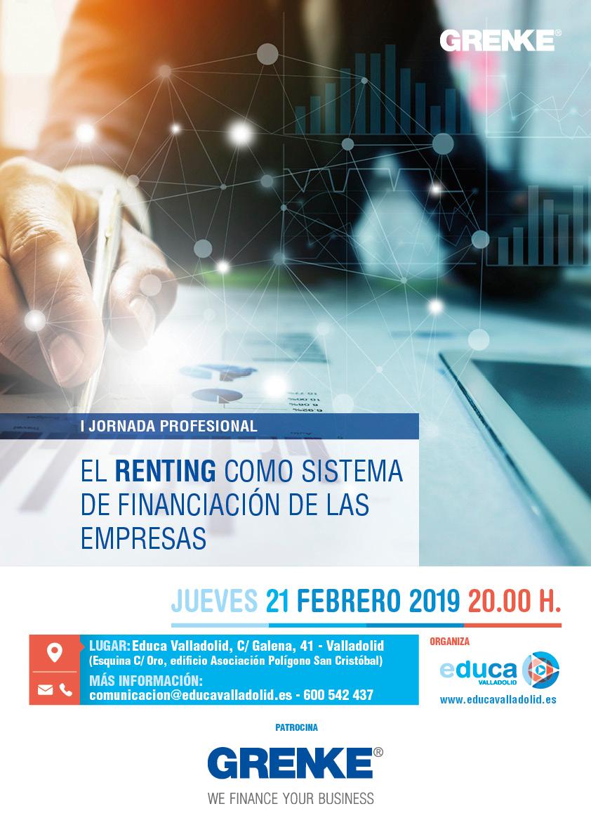 """I Jornada Profesional """"El renting como sistema de financiación de las empresas"""""""